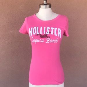 Hollister pink t- shirt Laguna beach t-shirt
